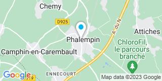 Plan Carte Virginie Paulissen-Roy et Sabine Andrieux-Karcher à Phalempin