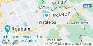 Plan Carte Serey Jol-Garros Guillaume à Wattrelos