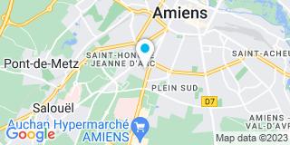 Plan Carte Annie Martel et Charles Demay à Amiens