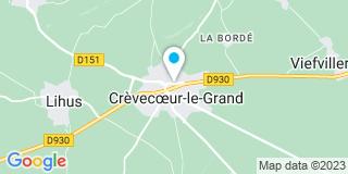 Plan Carte Damay Emmanuelle à Crèvecœur-le-Grand