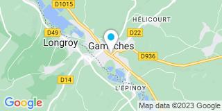 Plan Carte Isabelle Garde-Gricourt et Rodolphe Garde à Gamaches