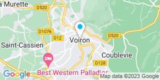 Plan Carte Legrand, Seiller, Grousson et Demski à Voiron