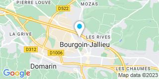 Plan Carte Caroline Bedel-Bonjean et Anne Muffat à Bourgoin-Jallieu