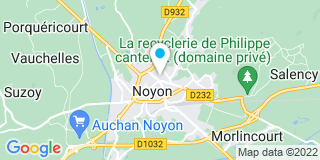 Plan Carte Emmanuel Lorda et Benoît Delafosse à Noyon