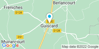 Plan Carte Frédéric Lestrade et Valérie Clare à Guiscard