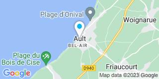Plan Carte Raphaël Bonin et Hélène Doudoux à Ault
