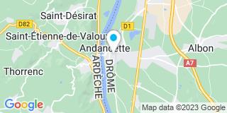 Plan Carte Furnon Radisson Anne et Furnon Doitrand Hélène à Saint Rambert D'Albon