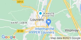 Plan Carte Valérie Lecoup-Blot, Claire Chartier-Brasset et Emmanuel Chenot à Louviers