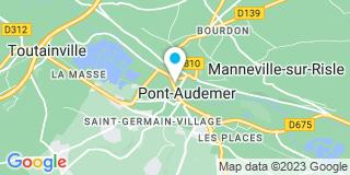 Plan Carte Xavier Meyer et Nicolas Goulet à Pont-Audemer