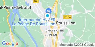 Plan Carte Géraldine Parant-Carnot et Patrick Peter à Le Péage-de-Roussillon
