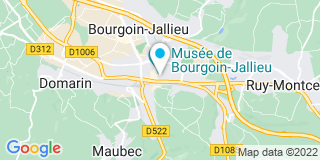 Plan Carte Jean-Louis Costes et Marie-Christine Laydernier à Bourgoin-Jallieu