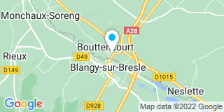 Plan Carte Françoise Coeuilte  à Bouttencourt