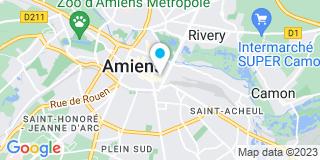 Plan Carte Drouart, Desjardins, Objois, Revillion, Bouthors, Neviaski, Robillart, Thelu et Renoult à Amiens