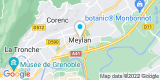 Plan Carte Giraud, Vancleemput, Plottin, Sauquet, Renesme et Bouvier à Meylan