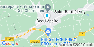 Plan Carte Marie-Anne Quereyron-Gratier et Laurence Deschamps à Beaurepaire