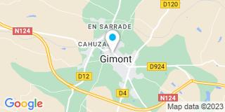 Plan Carte Nathalie Vidal-Alandete et Muriel Goulm-Casonato à Gimont