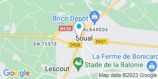 Plan Carte Céline Bories et Renaud Crebassa  à Soual