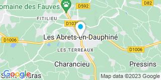 Plan Carte Charles Baud et Anne Chirpaz à Les Abrets