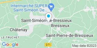 Plan Carte Alexandre Merlier à Saint-Siméon-de-Bressieux