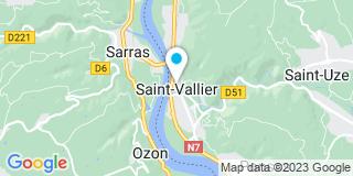 Plan Carte Garry Pascal et Gauthier-Garry Florence à Saint Vallier