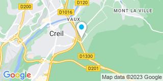 Plan Carte Lionel Le Renard, Anne-Christelle Madelaine-Grassier, Christian Lonjon et Sébastien Savary à Creil