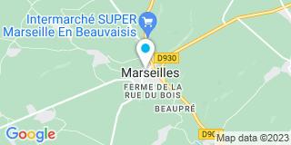 Plan Carte Michel Devulder et Sylvie Coeuillet à Marseille-en-Beauvaisis