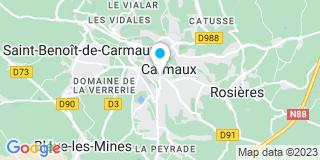 Plan Carte Louis-Joseph Blineau et François Suire  à Carmaux