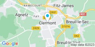 Plan Carte Patrick-Jacques Giraud et Jocelyn Bardet à Clermont