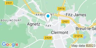 Plan Carte Xavier Gillet et Jean-Claude Duretz à Clermont