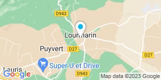 Plan Carte Christiane-Marie James, Michel James et Foulques de Sabran Ponteves à Lourmarin