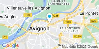 Plan Carte Hélène Sellier-Dupont et Lucie Gressard à Avignon
