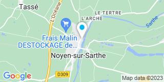 Plan Carte Noyen Françoise Saab à Noyen sur Sarthe