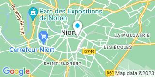 Plan Carte Denis Emanuelle et Guibert Fetys Véronique à Niort