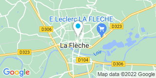Plan Carte L'office notarial de La Flèche