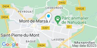 Plan Carte Laurent Ginesta et Karine Duvignac-Delmas à Mont-de-Marsan