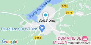 Plan Carte Olivier Darmaillacq et Philippe Ducasse à Soustons