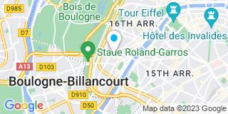 Plan Carte Pesque Coralie à Paris