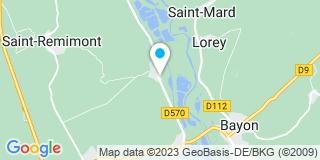 Plan Carte Noroy, Gerome-Cugnin, Guibert, Richard à Neuveiller-sur-Moselle