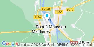 Plan Carte Nicole Lemoine-Thomas, Marc Astolfi et Delphine Thomas à Pont-à-Mousson