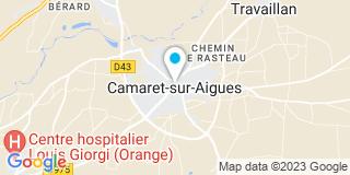 Plan Carte Jean-Paul Montagnier à Camaret-sur-Aigues