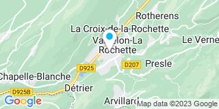 Plan Carte Les notaires Amélie Feron et Nicolas Engel à La Rochette