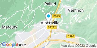 Plan Carte Les notaires Dunand-Rousset et Cécile Gasca à Albertville