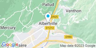 Plan Carte Les notaires Jean-Charles Poinsignon et Pascal Jafflin à Abertville