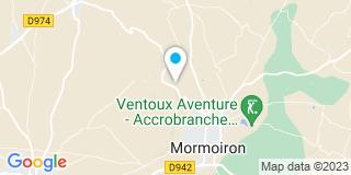 Plan Carte Michel Maurin et Clio Peyronnet à Mormoiron