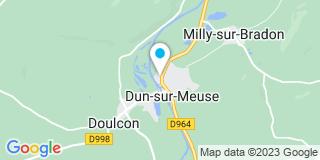 Plan Carte Arielle Dupont Stival et Alexandre Thon à Dun-sur-Meuse