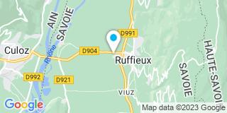 Plan Carte Les notaires Valérie Lafay-Vinson et Michel Capitain à Ruffieux