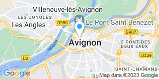 Plan Carte Patrick Martinel, Emmanuel Drujon D'Astros et Cathy Sasso à Avignon