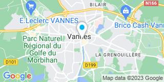 Plan Carte Chauchat-Rozier, Offredo, Roche, Grandjean et Le Port à Vannes
