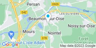Plan Carte Bernard Bultel et Aline Vion-Dury à Beaumont-sur-Oise