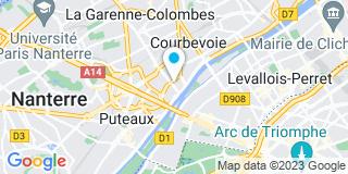Plan Carte Hervé Seyewetz, Philippe Gagnier et Jean-Francis Martin à Courbevoie